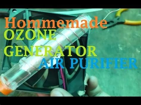 homemade ozone generator air purifier youtube