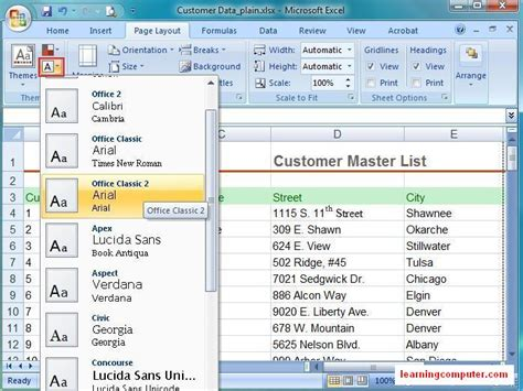tab layout in android exle microsoft excel tutorial page layout tab in ms excel