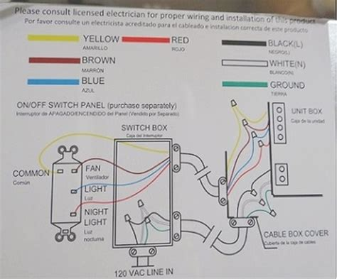 nutone exhaust fan wiring diagram nutone bathroom fan wiring diagram wiring diagram and