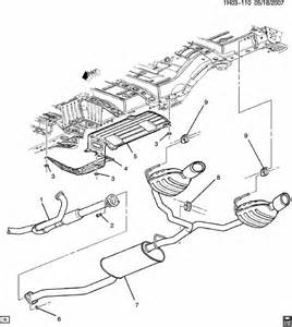 Exhaust System Parts List Buick Enclave Exhaust System Part 2 Rear