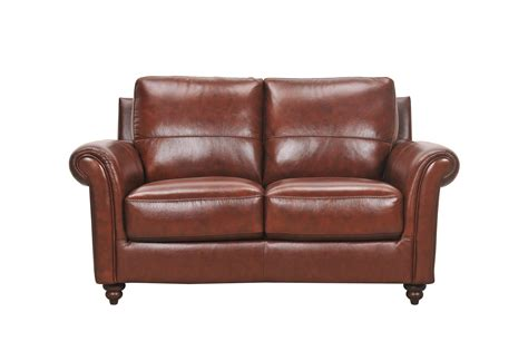 violino couch violino grady 3508 2p leather loveseat with rolled arms