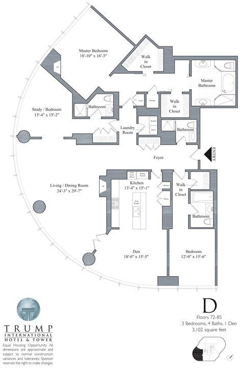 trump s apartment floor plan trump tower chicago 401 n wabash floor plans views