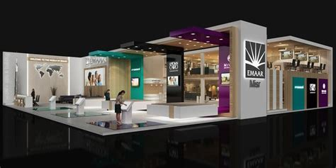 booth design dubai emaar cityscape 2014 booth on behance stands pinterest