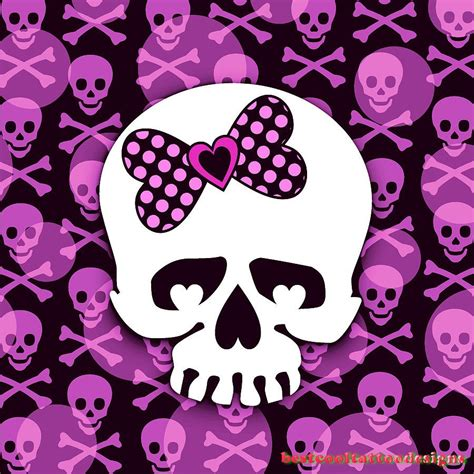 girly skulls tattoo designs best cool tattoo designs