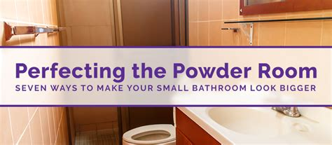 perfecting the powder room seven ways to make your small bathroom look bigger custom tub and