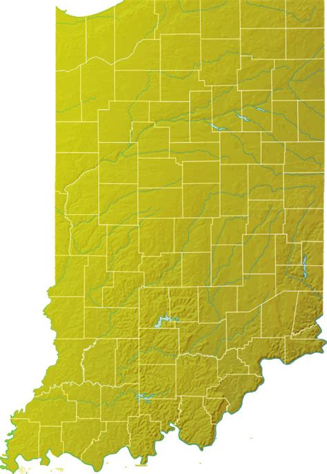 physical map of indiana indiana page