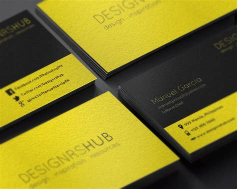 biz card template psd free minimal business card design psd template by