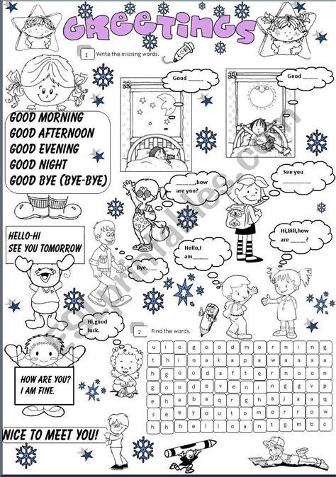 greetings worksheets for greetings esl worksheet by angelamoreyra