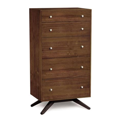 Walnut Bedroom Drawers by Copeland Astrid Walnut 5 Drawer Chest American Made
