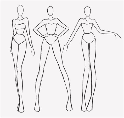 fashion design figure drawing templates fashion figures by darkcrea pinteres