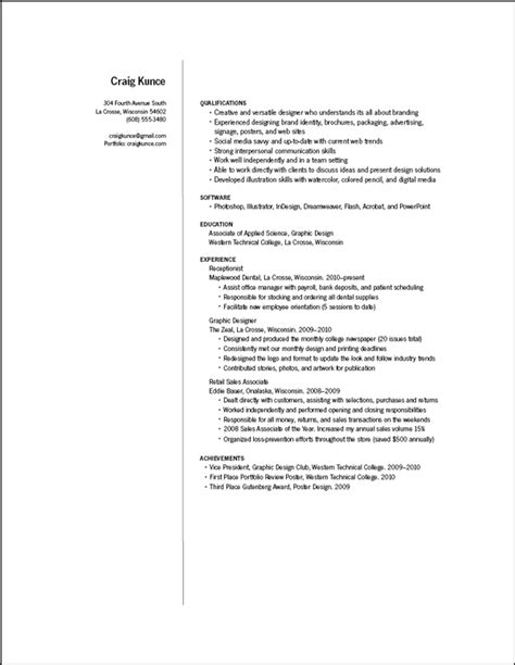 graphic designer resume sle pdf images