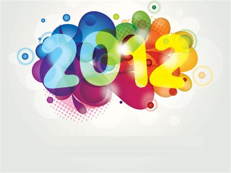 colorful powerpoint templates colorful new year 2012 powerpoint template 171 ppt