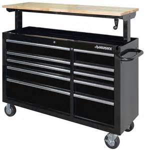 husky work bench husky adjustable height mobile workbench