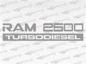 Dodge Ram Decals And Stickers Dodge Ram 2500 Turbodiesel Decal Stickers