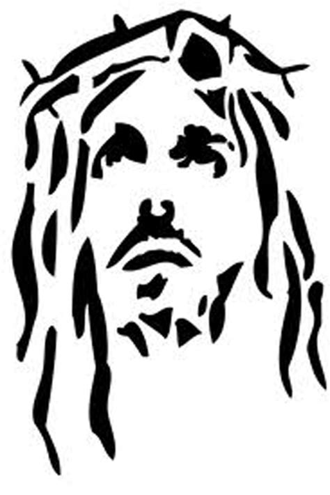 free printable stencil jesus face coloring pages for
