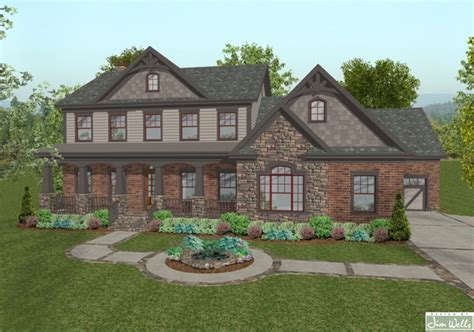old world home plans a2610 old world brown front rendering r the house designers