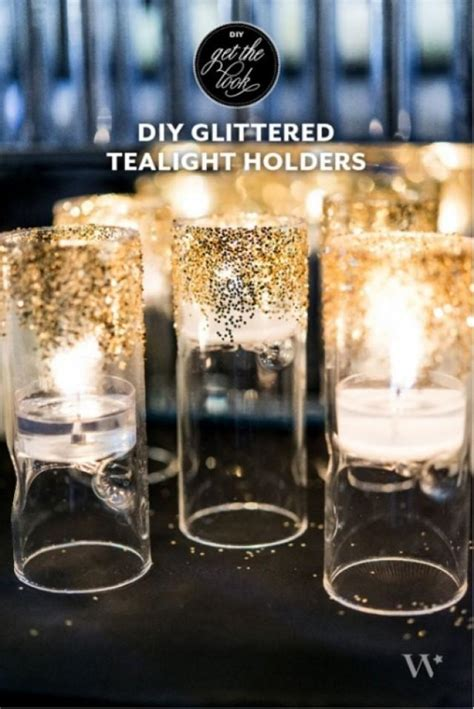 deco inspired diy glittered tealight holders for your