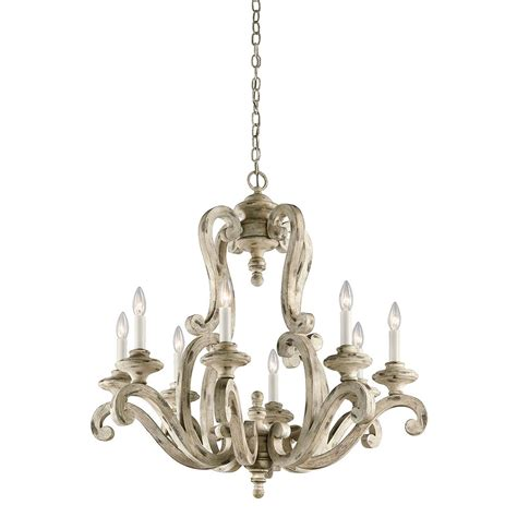 Kichler 43265daw Hayman Bay Distressed Antique White Distressed Chandeliers