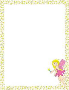 a printable page border with stars and a fairy free
