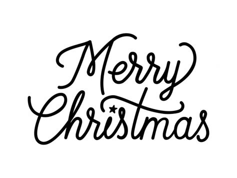 merry christmas creative lettering vector