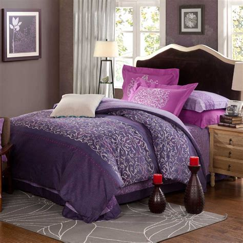 Violet Bedding Sets Violet Purple Floral Print Comforter Sets Ebeddingsets