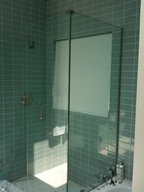 Frameless Corner Shower Doors Frameless Glass Shower Door Corner Enclosure Modern Bathroom New York By Atm Mirror And