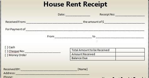 Rent Receipt Email Template by Business Templates And Project Managment Software House