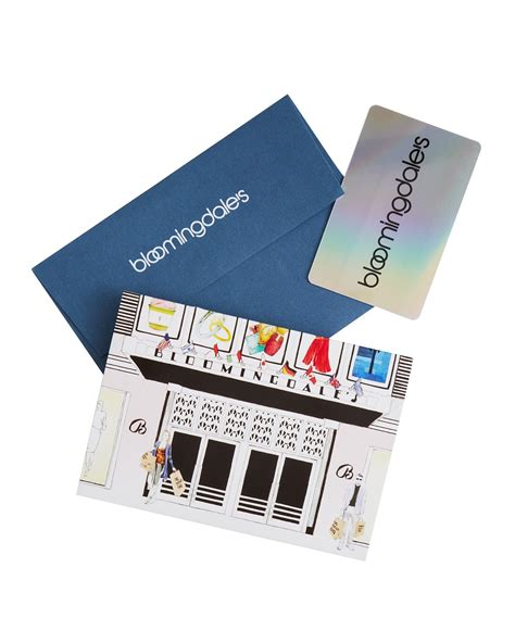 Bloomingdale Gift Card - bloomingdale s iconic fall fashion gift card in box with envelope bloomingdale s