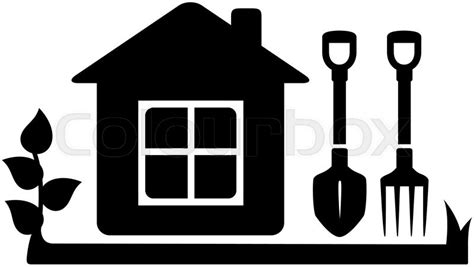 Affordable Housing Plans And Design by Black Isolated Symbol Gardening Tools Icon With Garden