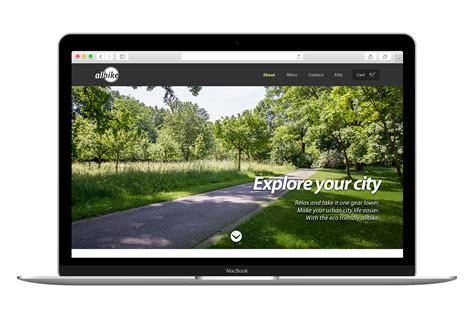 Eco Friendly Bike Shop Website Website Templates On Creative Market Friendly Website Templates