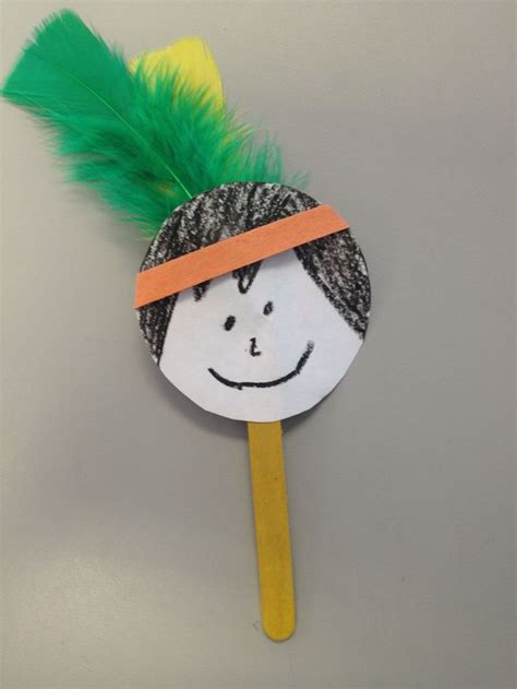 american indian crafts for american indian popsicle stick puppet tots n