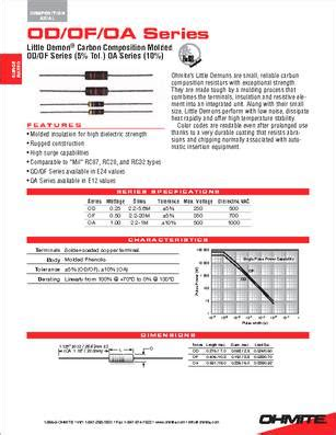 300 ohm resistor datasheet od301je datasheet specifications resistance ohms 300 power watts