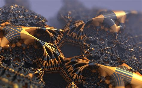 fractal fractal gold black abstract wallpapers hd