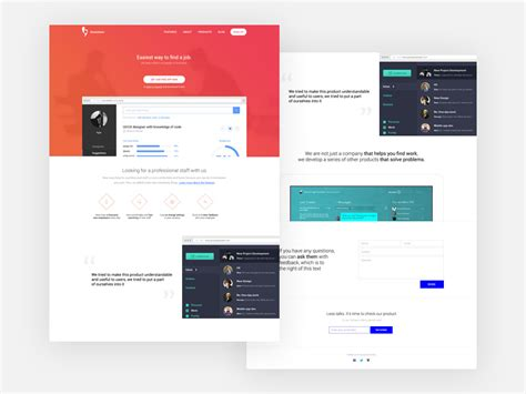 landing page template free psd psdfinder co