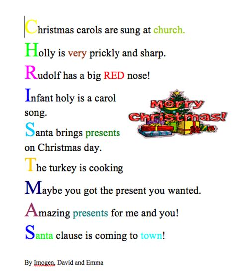search results for christmas acrostic template