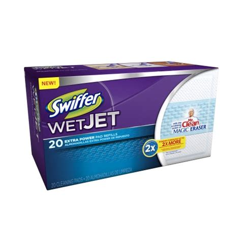 swiffer wetjet pads with the power of mr clean magic