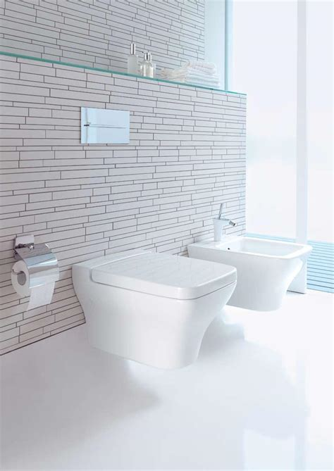 modern white tile bathroom bathroom impressive wall mount toilet tank design ideas