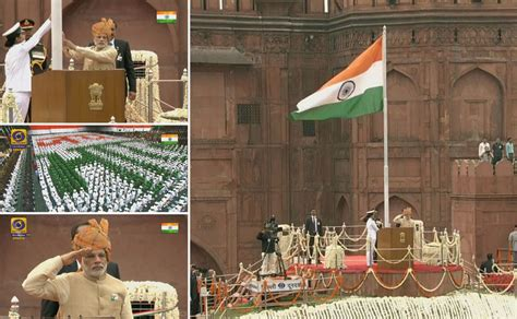 independence day 2015 pm modi unfurled the tricolor and