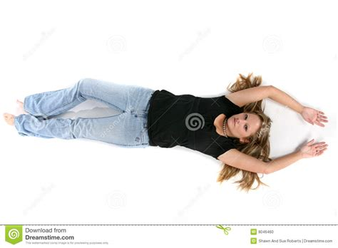 laying on back looking on pretty lying on back stock photo image 8046460
