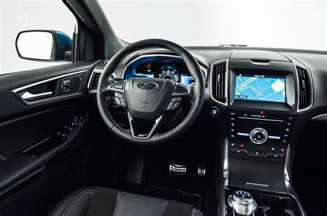 ford st interior 2019 ford edge st front interior drivers side motor trend