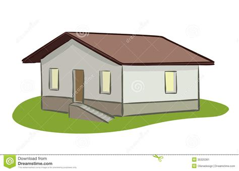 Country House Plans With Porch small house vector illustration stock image image