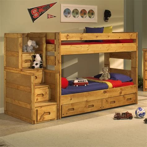 trendwood wrangler bunk bed bedroom collection