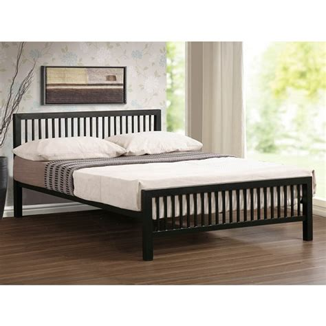 ultra bed meridian ultra modern bed in black metal 27146 furniture in