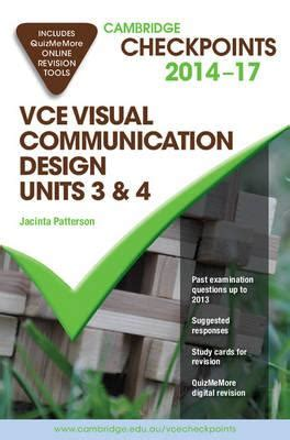 visual communication and design vce cambridge checkpoints vce visual communication design