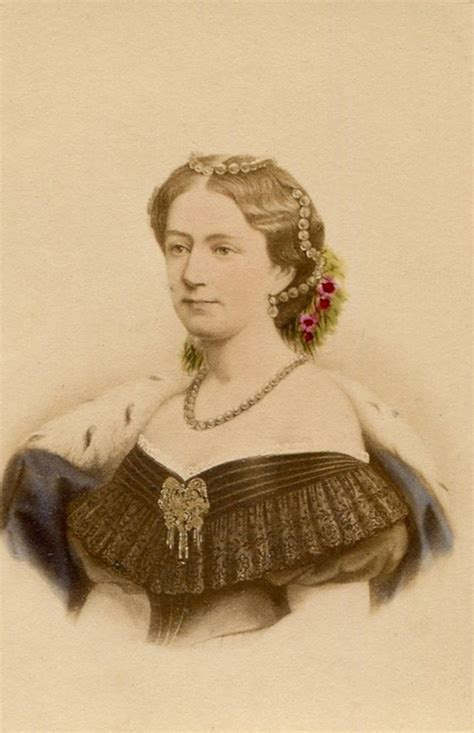 Zita Brown Earrings 1860s louise of denmark by neurdein cdv grand