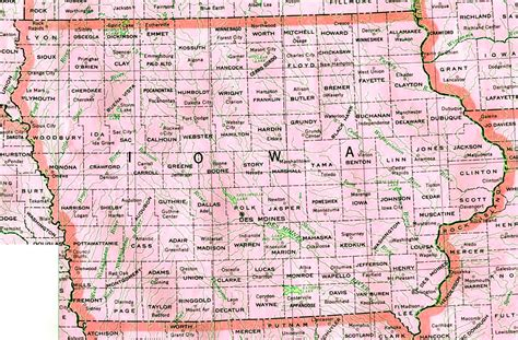 iowa state map iowa map with cities counties state map map of usa states