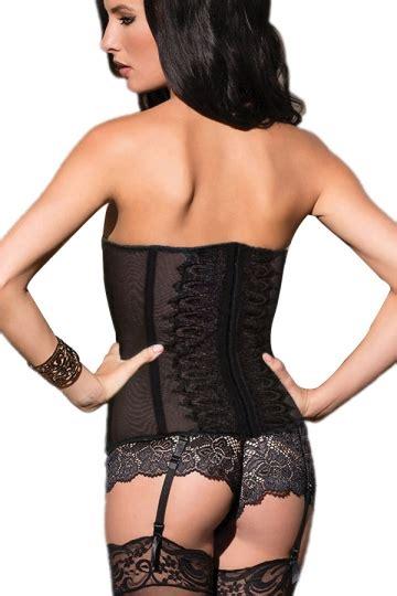 Bustier Import 2 black womens lace slim bust corset pink