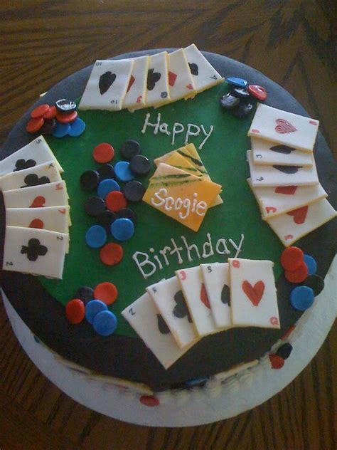 cake lady poker birthday party