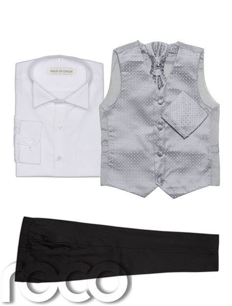 diamond pattern clothes called baby boys waistcoat suit page boy suits black trousers