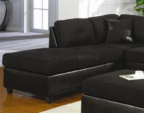 Black Microsuede Microfiber Faux Leather